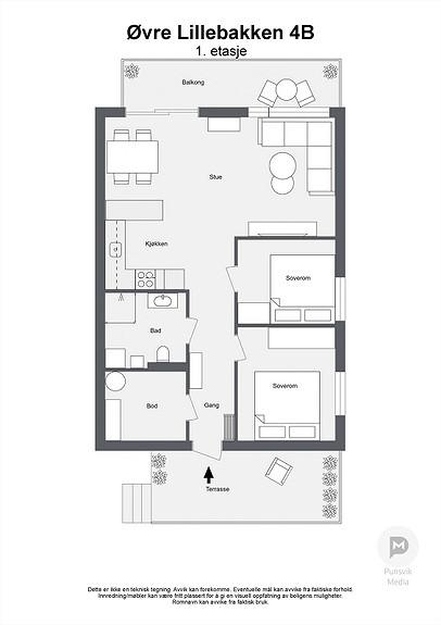 Øvre Lillebakken 4B - 1. etasje - 2D