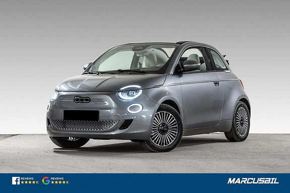 Fiat 500 La Prima Cab 320 km AP/ACC/CarPlay/Skinn/LED/17+16  2021, 100 km, kr 360000,-