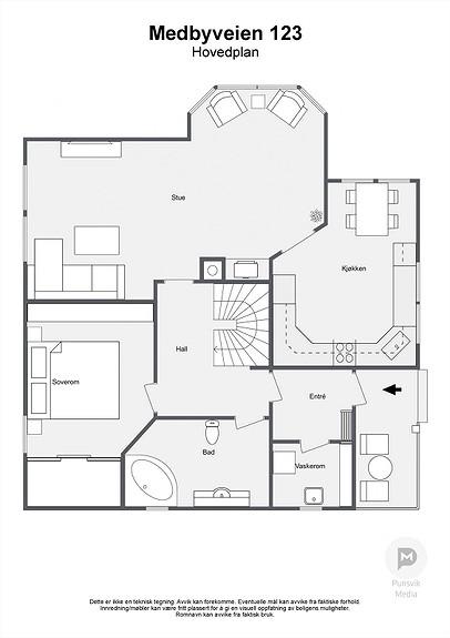 Medbyveien 123 - Hovedplan - 2D