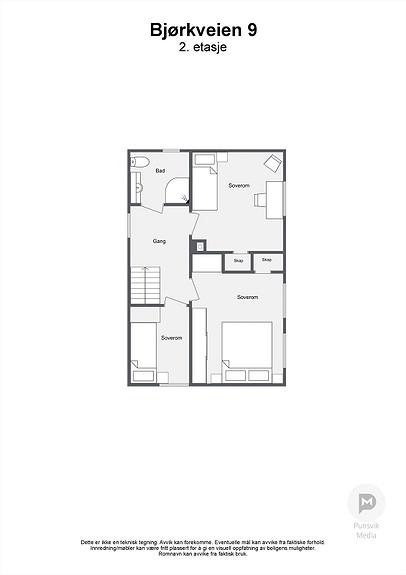 Bjørkveien 9 - 2. etasje - 2D