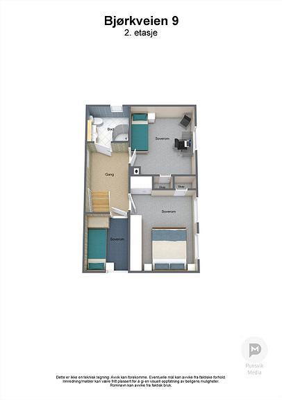 Bjørkveien 9 - 2. etasje - 3D