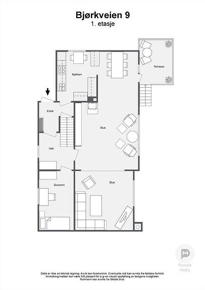 Bjørkveien 9 - 1. etasje - 2D