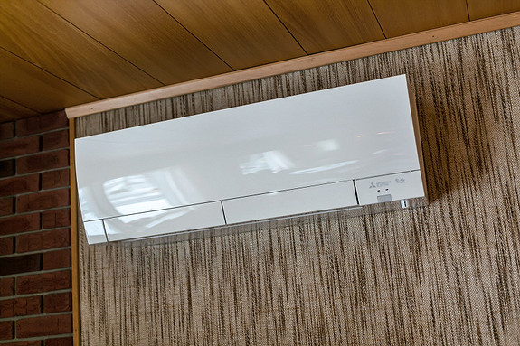 Varmepumpe er plassert i stuen