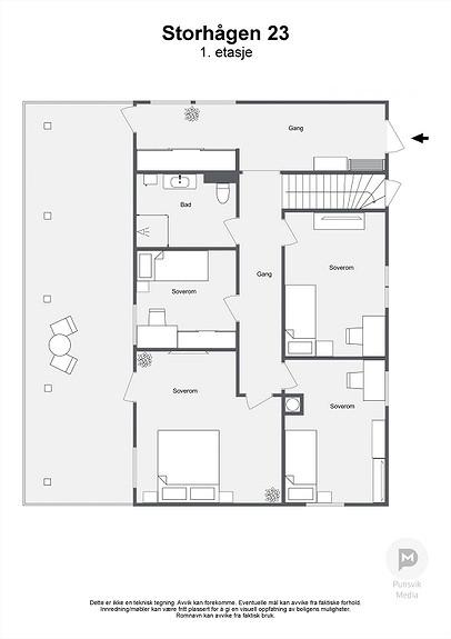 Storhågen 23 - 1. etasje - 2D