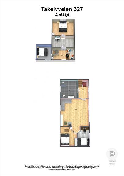 Takelvveien 327 - 2.  etasje - 3D