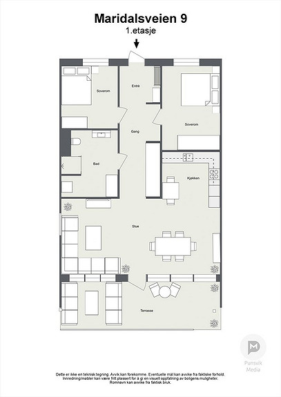Maridalsveien 13A  1. etasje - 2D
