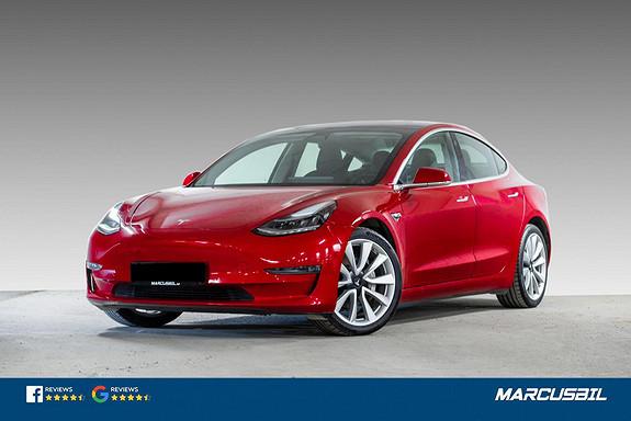 "Tesla Model 3 LR AWD FSD/HIFI/VINTER/19""+18""  2019, 66000 km, kr 389900,-"