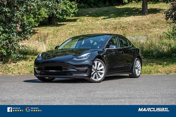 """Tesla Model 3 """"BASE"""" PERFORMANCE AP/HIFI/VINTER/HENGERFESTE/19""""+18""""  2019, 29000 km, kr 475000,-"""