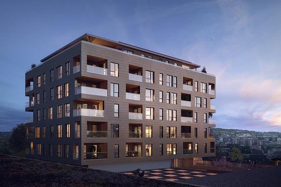 KREMMERHUSET - Ny og lekker leilighet med 1 soverom og 30 kvm balkong