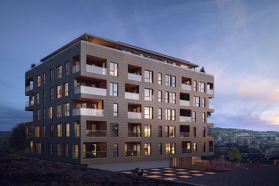 KREMMERHUSET - Splitter ny leilighet med 1 soverom og balkong midt i sentrum
