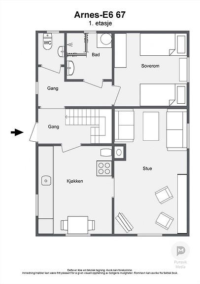 Arnes-E6 67 - 1. etasje - 2D