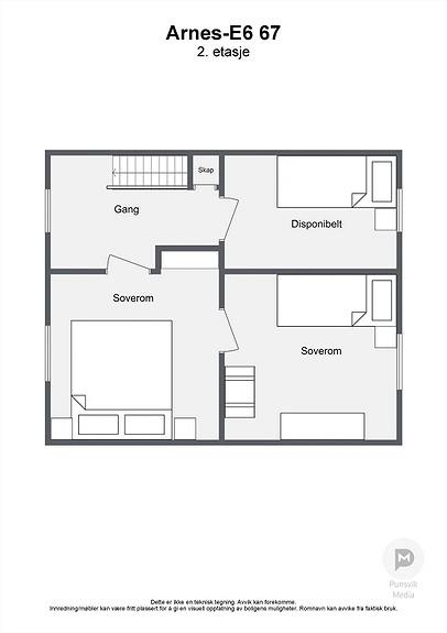 Arnes-E6 67 - 2. etasje - 2D