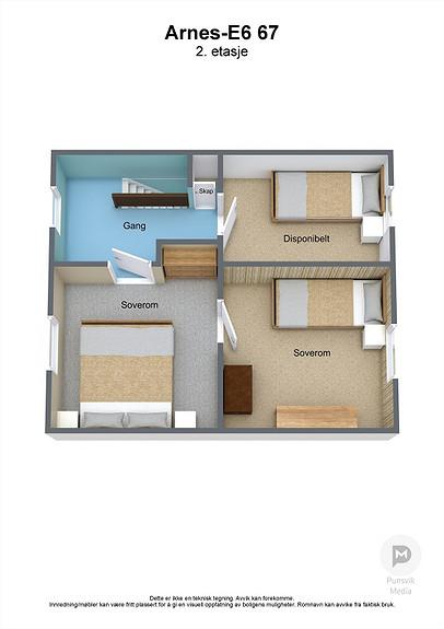 Arnes-E6 67 - 2. etasje - 3D