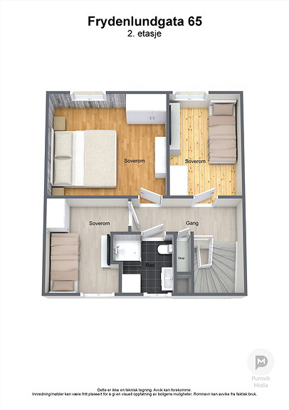 Frydenlundgata 65 - 2. etasje - 3D