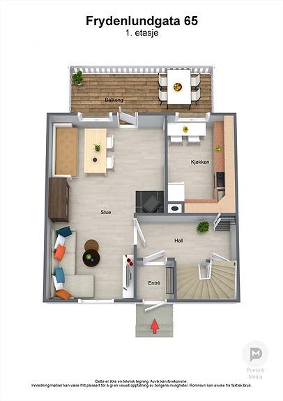 Frydenlundgata 65 - 1. etasje - 3D