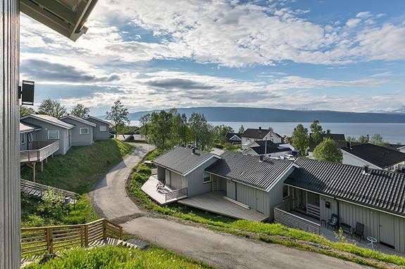 Utsikt over Ofotfjorden og mot Vegglandet!
