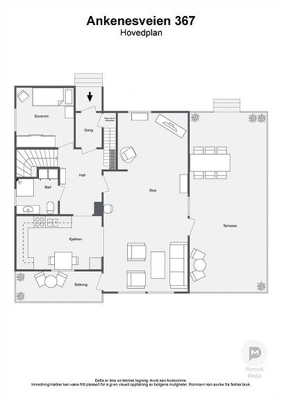 Ankenesveien 367 - Hovedplan - 2D