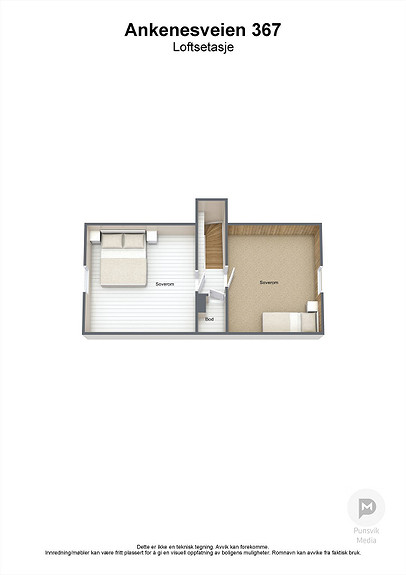Ankenesveien 367 - Loftsetasje - 3D