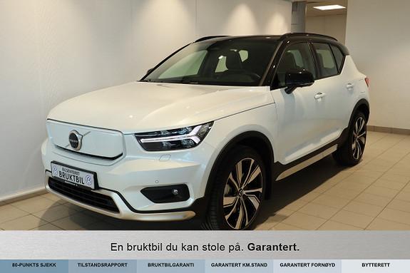 "Volvo XC 40 P8 AWD Recharge Soltak, H&K, Lyspakke,360kam,20"", El.seter  2021, 3500 km, kr 599000,-"