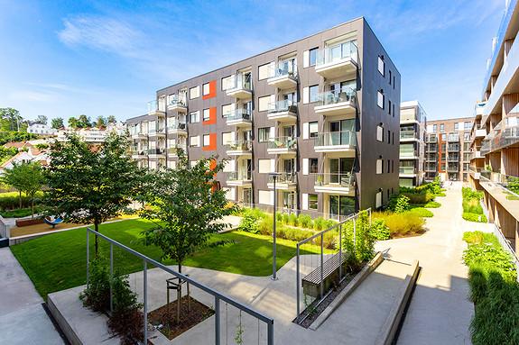 Moderne 3-roms leilighet på Kaldnes med 2 balkonger og gode solforhold i 4. etg
