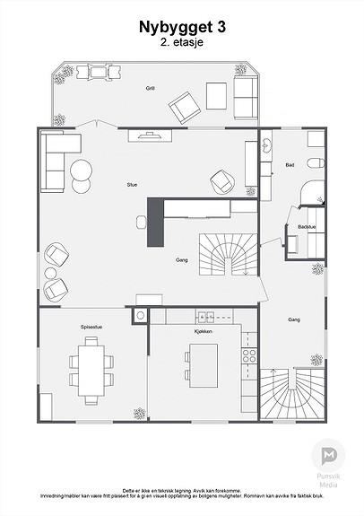 Nybygget 3 - 2. etasje - 2D