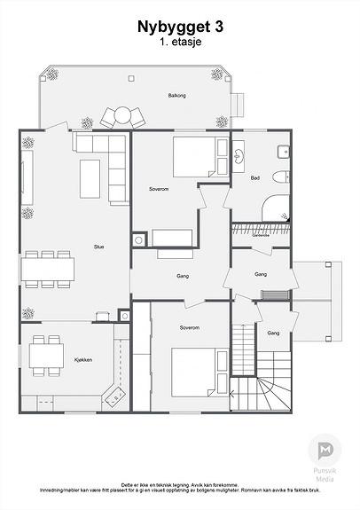 Nybygget 3 - 1. etasje - 2D