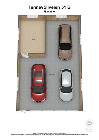 Tennevollveien 51 B - Garasje - 3D