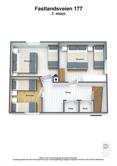 Fastlandsveien 177 - 2. etasje - 3D