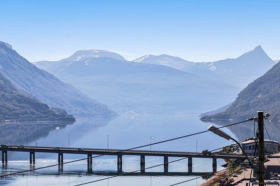 Flott utsikt inn Beisfjorden!