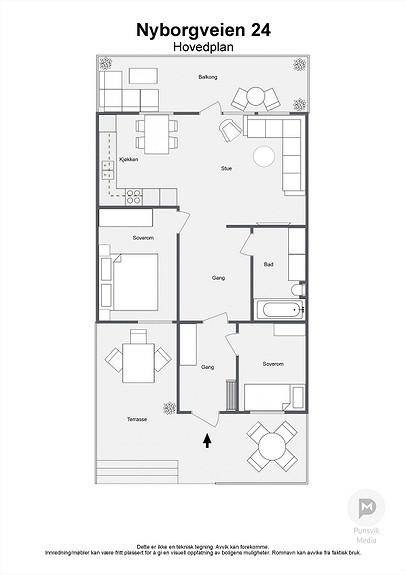 Nyborgveien 24 - Hovedplan - 2D