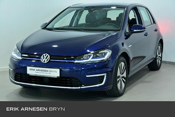 Volkswagen Golf E-golf 136 hk Skinn, Active info, Kamera, Varmepumpe +  2019, 16900 km, kr 249900,-