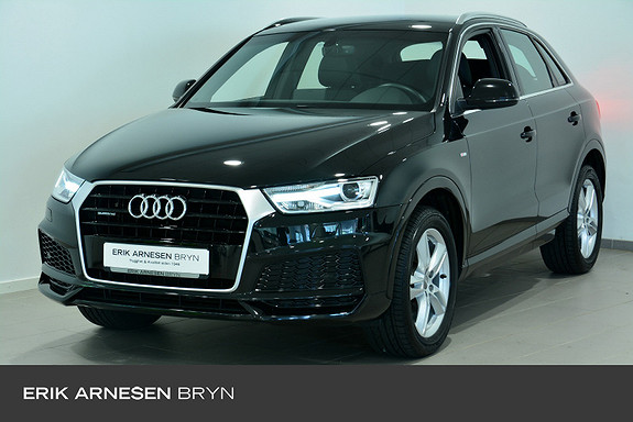 Audi Q3 Sport Business 2,0 TDI 150hk quattro aut S line, Krok +  2018, 45990 km, kr 349900,-