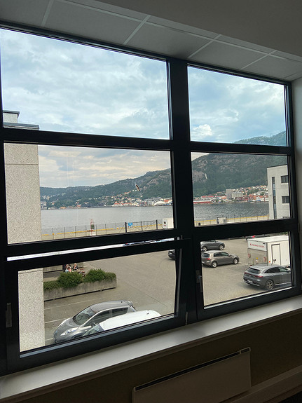 Utsikt fra kontorlokaler i Bontelabo 2