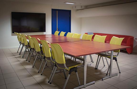 Møterommet Prammen, ett av flere møterom i bygget