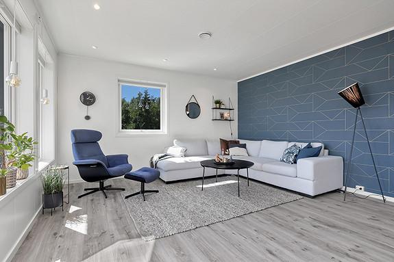 Flott og lys stue i moderne utførelse!