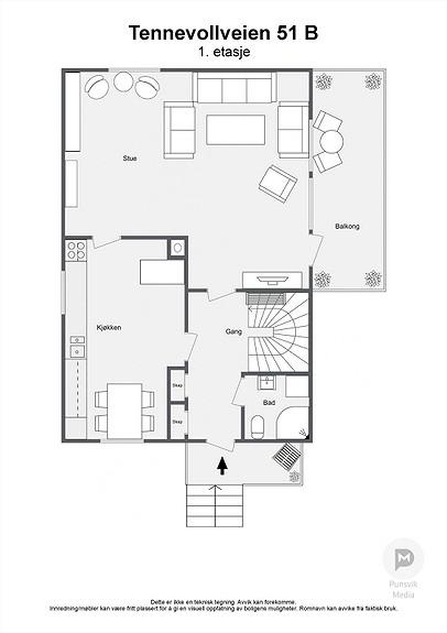 Tennevollveien 51 B - 1. etasje - 2D