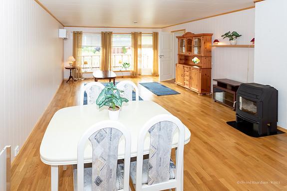 God plass for møblering i stuen