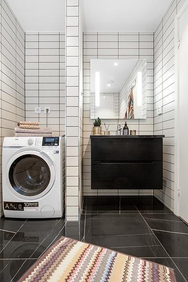 Bad med kombinert vaskemaskin/tørketrommel