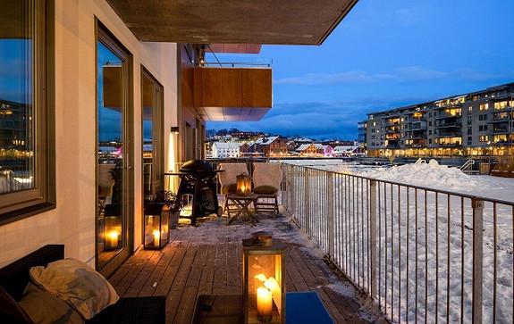 Fin og romslig terrasse
