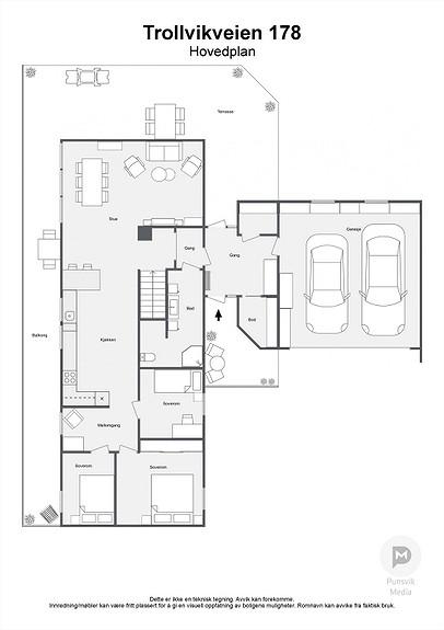 Trollvikveien 178 - Hovedplan - 2D