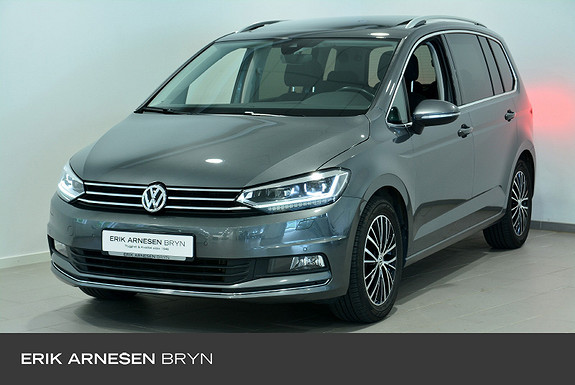 Volkswagen Touran 7s 150 tsi dsg family Easy open, Panorama, Kamera + +  2018, 37800 km, kr 339900,-