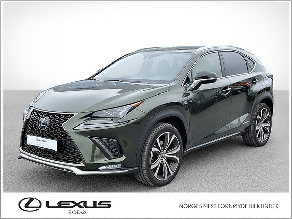 "Lexus NX 300h F Sport   Hybrid   20"" ++  2021, 4500 km, kr 629000,-"