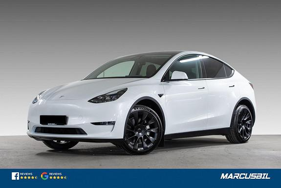 "Tesla Model Y LONG RANGE AP/HIFI/VINTER/20""  2021, 200 km, kr 599900,-"