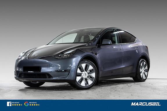 "Tesla Model Y LONG RANGE AP/HIFI/VINTER/19""  2021, 1850 km, kr 579900,-"