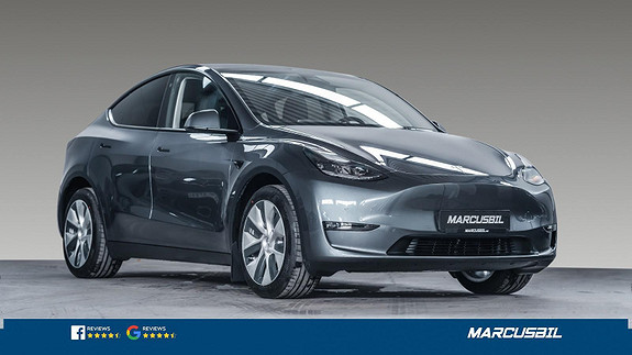 "Tesla Model Y LONG RANGE AP/HIFI/VINTER/19""  2021, 1035 km, kr 579000,-"